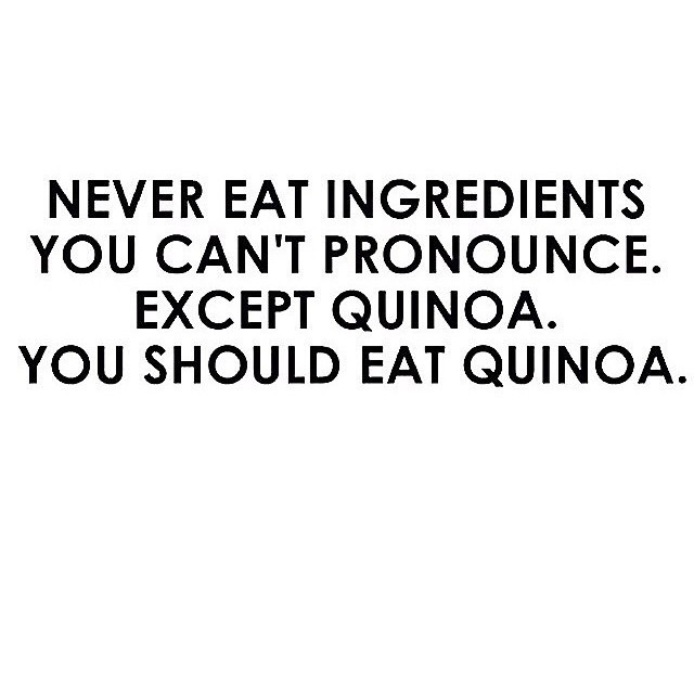Check out those ingredients! Quinoa is safe... Promise! LoL :)