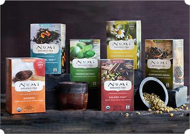 The best convenient, organic teas. Numi Tea.