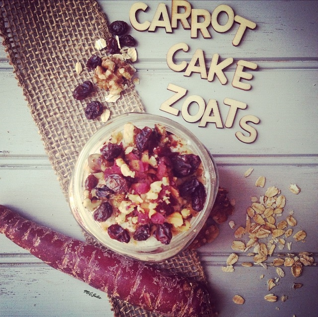 Creamy, sweet & spicy, decadent and rich Carrot Cake Zoats loaded with gluten free, vegan, refined-sugarfree goodness plus two kinds of veggies. You're welcome :)
