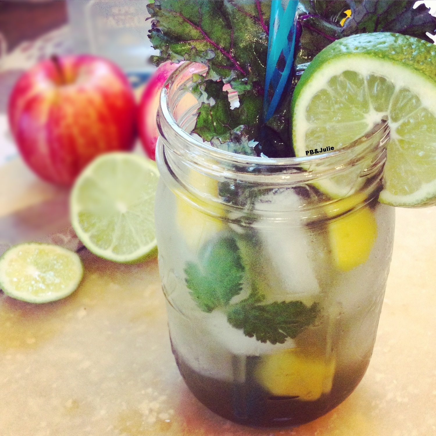 Get your GLOW on with this margarita bursting with super foods nutrition.