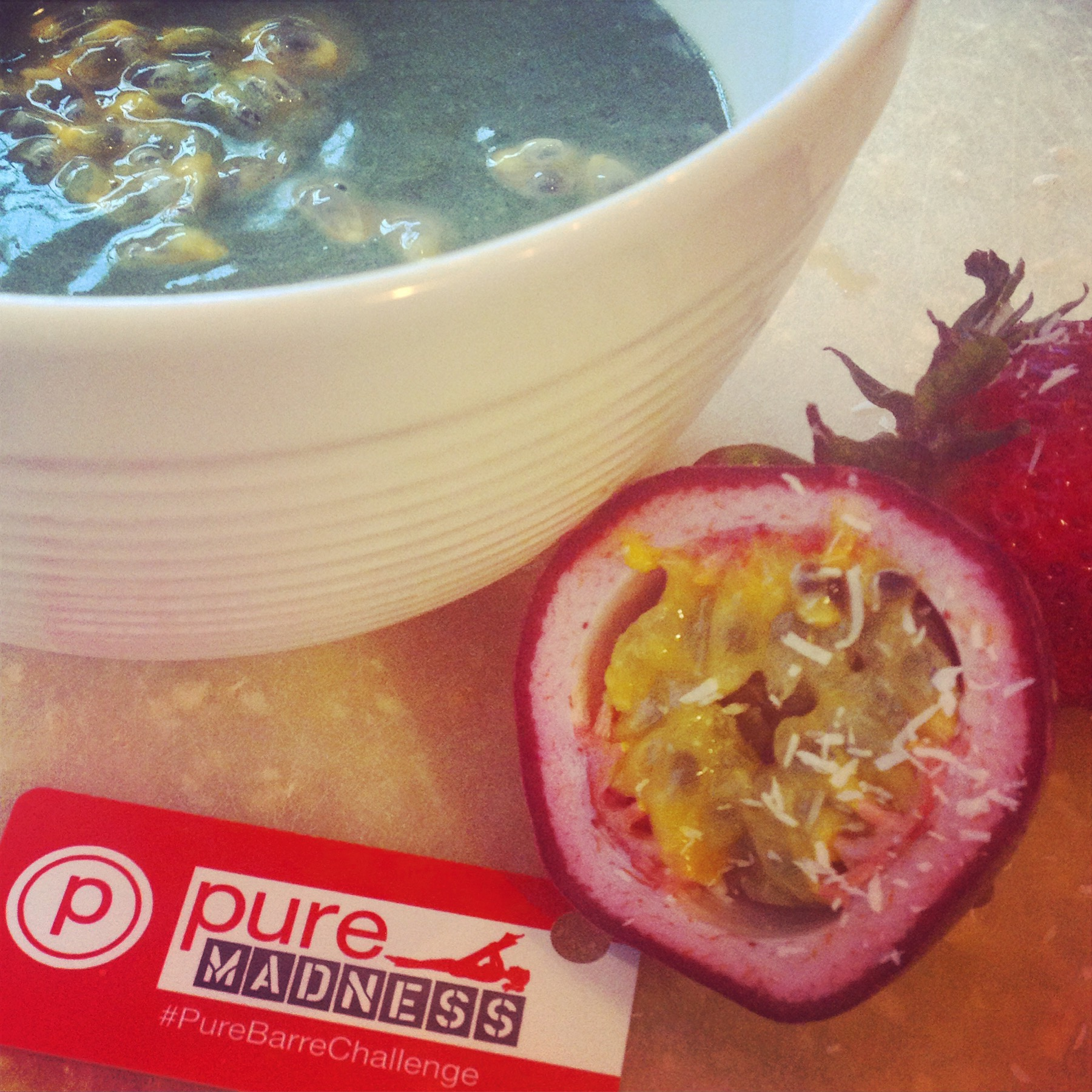 Day 1 of the Pure Madness Challenge complete. Powered by passion anda bowl of Pure Fuel.