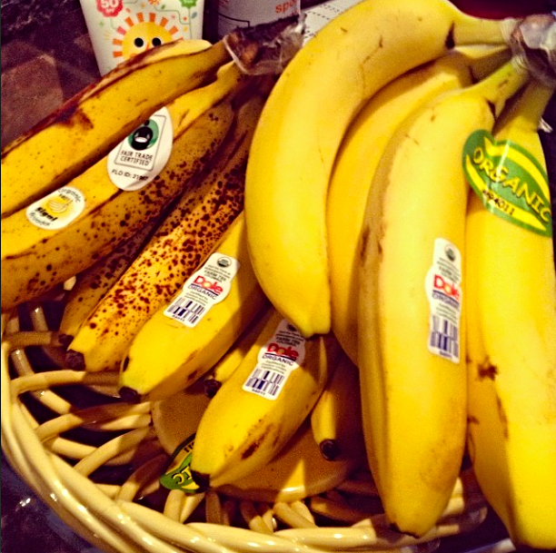Gaining weight? Let's be real... I doubt it's the bananas. :)