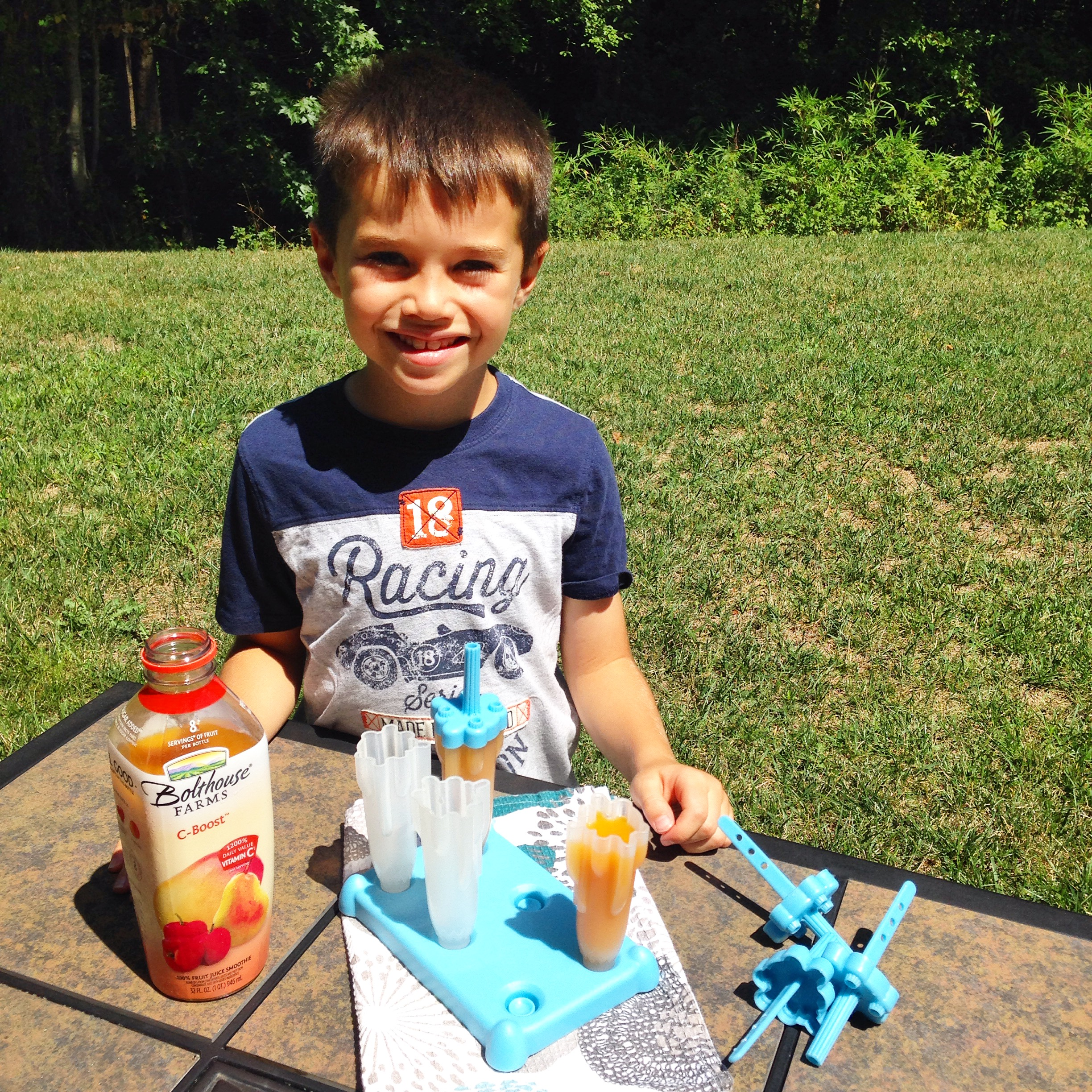 Make this a family event by freezing easy kid pops too with their favorite sugar free juice. Semi-homemade has never been so fun!