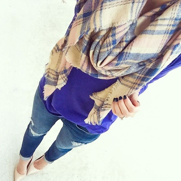 Blanket scarves... the coziest accessory you need a youtube video to wear.