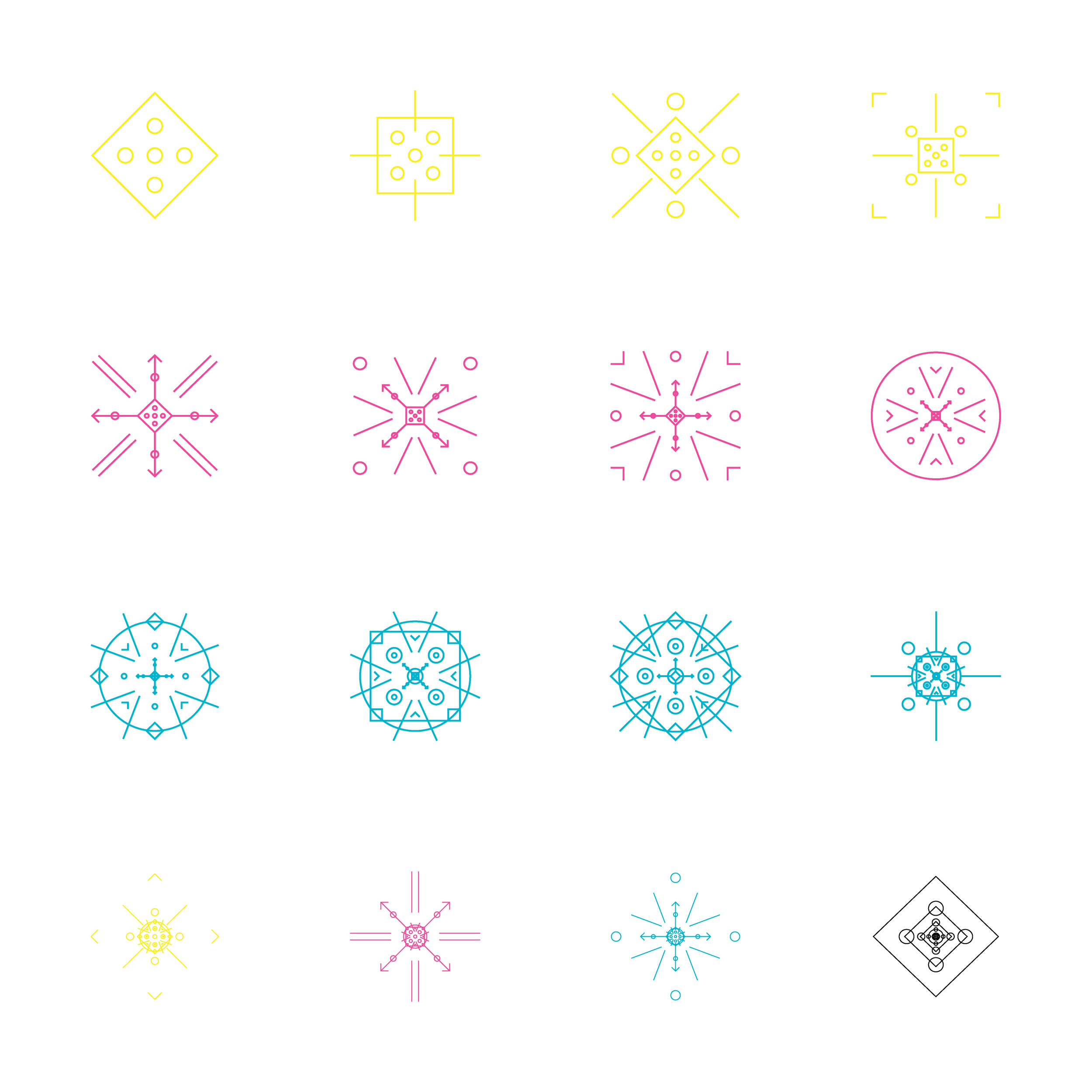 evolving pattern of geometric shapes mimicking the repetition and consistency in the song's beats