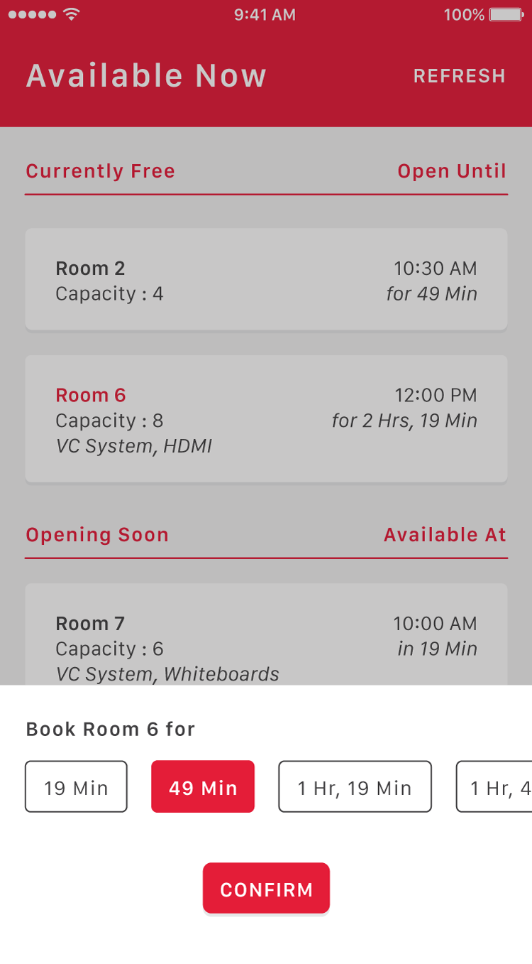 Quick Booking Panel