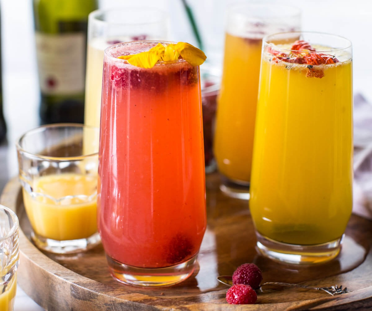 Build your own Mimosa/Bellini Bar (weekend brunch)