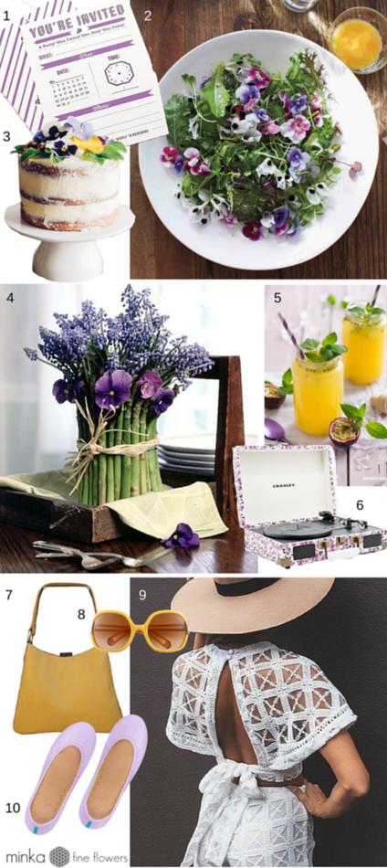 minkaflowers.com garden party checklist