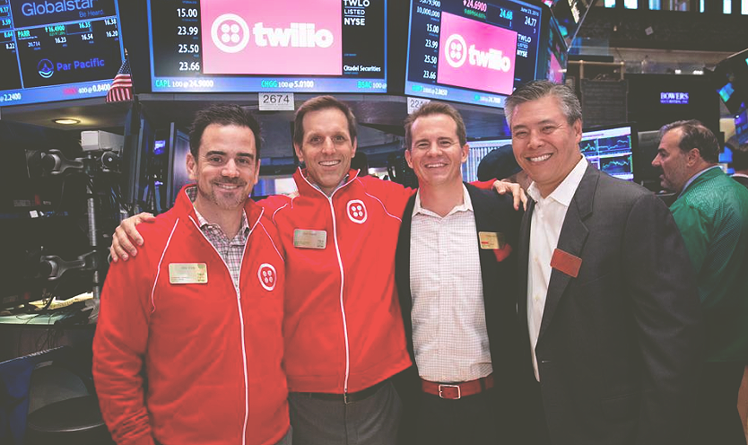 """<a href=""""/area-of-your-site""""></a>TWILIO INVESTORS CHEERING ON THE NYSE FLOOR, INCLUDING FOUNDERS CIRCLE PARTNER, MIKE JUNG<br><br></a><strong>READ THE STORY →</strong>"""