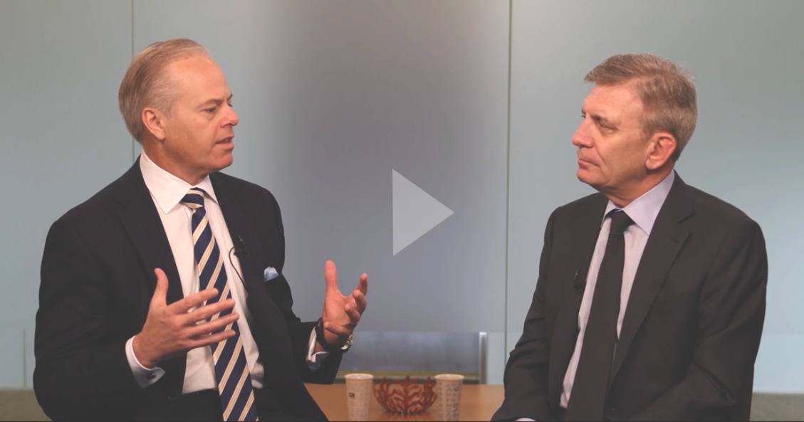 CA CEO Mike Gregoire<br>with Veracode CEO Bob Brennan<br><br>Watch →