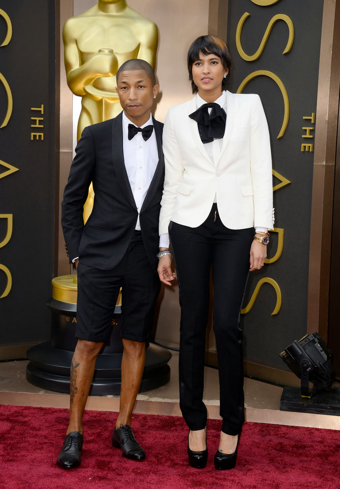 Pharrell Williams at the Oscars Red Carpet in Lanvin