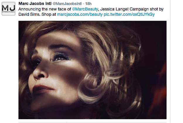 Jessica Lange for Marc Jacobs