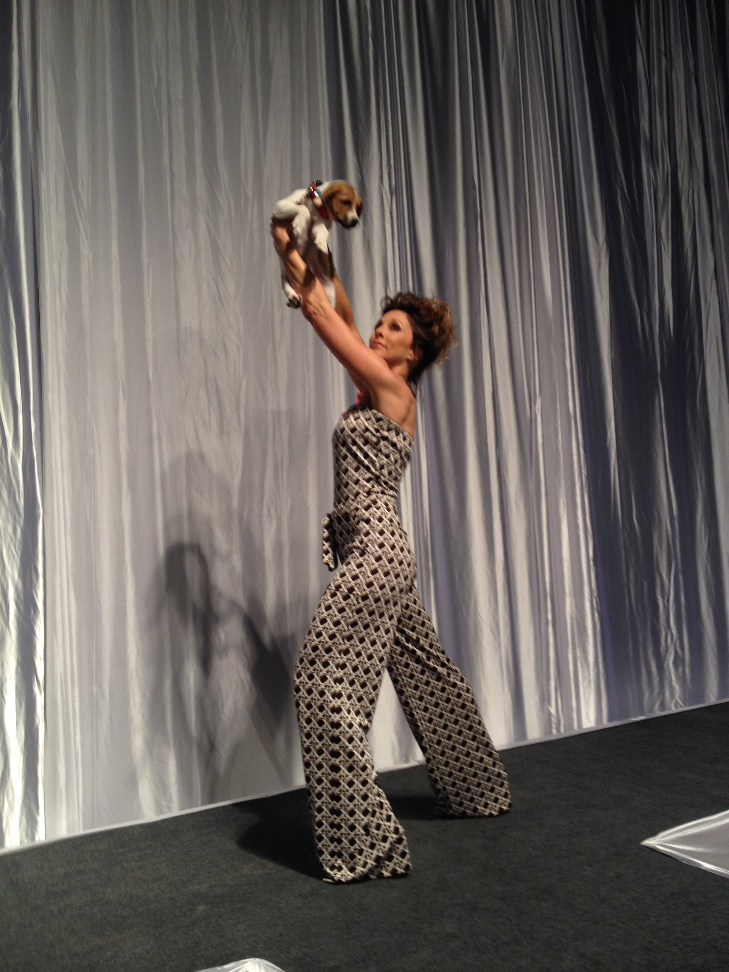Doggies on the Catwalk! Model and host of Atlanta & Company / 11 Alive, Christine Pullara has a triumphant runway moment with an adorable puppy! Watch highlights video  HERE !