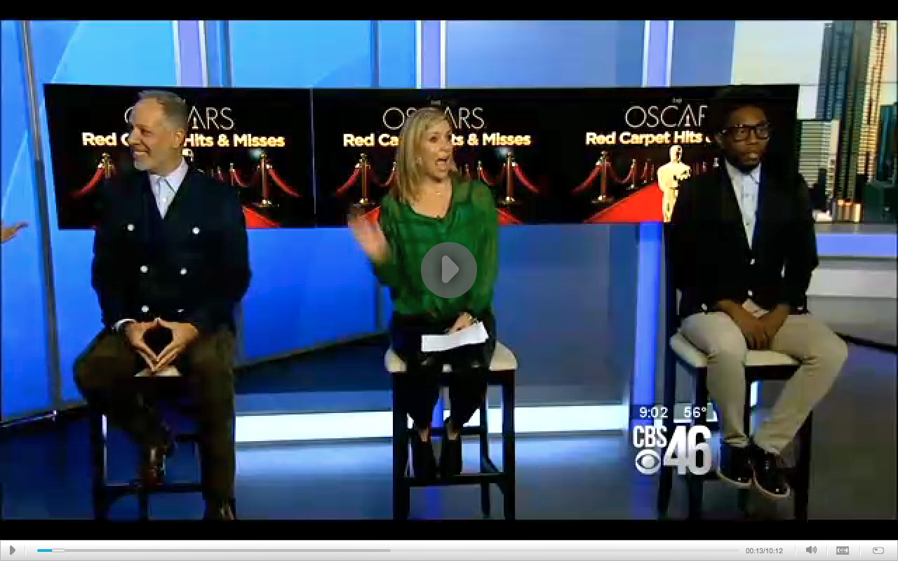 I had a fun fashion year at CBS 46's Better Mornings show talking up Red Carpet fashion.