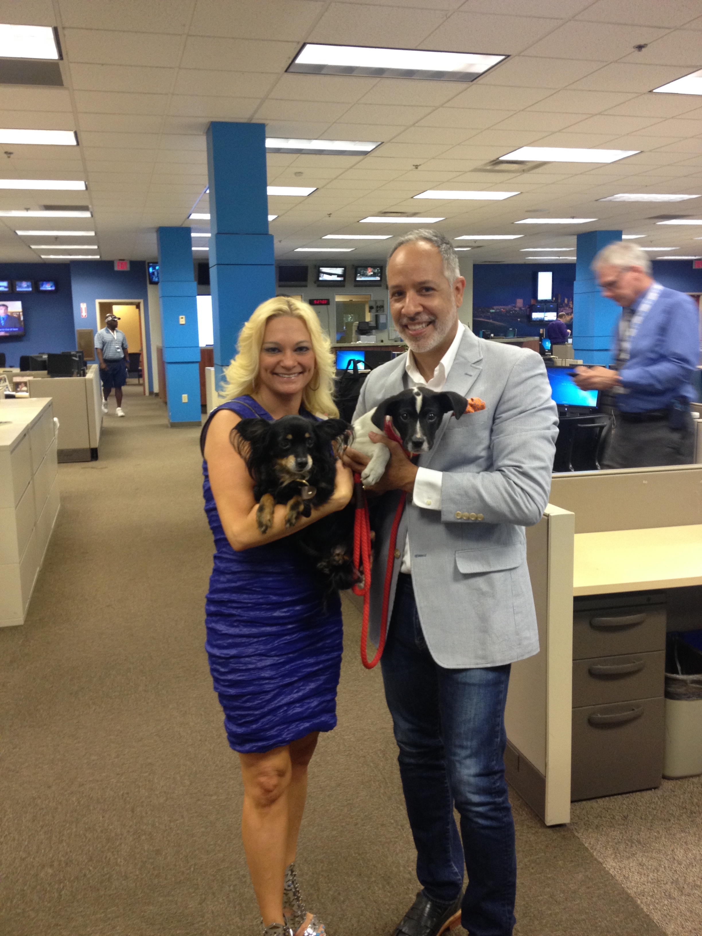 Getting ready to chat about the 7th Annual Doggies on the Catwalk with Stacey Weiss. CBS 46