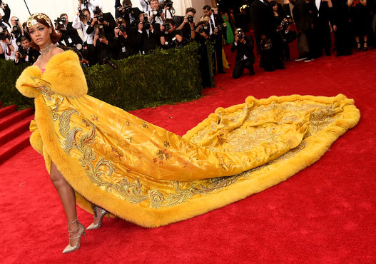 Rihanna in Guo Pei. She is a fashion goddess who can do no wrong... naked or dressed Riri knows how to work it!