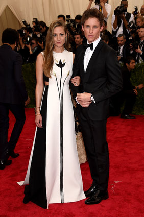 Hannah Bagshawe in Valentino and Eddie Redmayne. My other fave couple.
