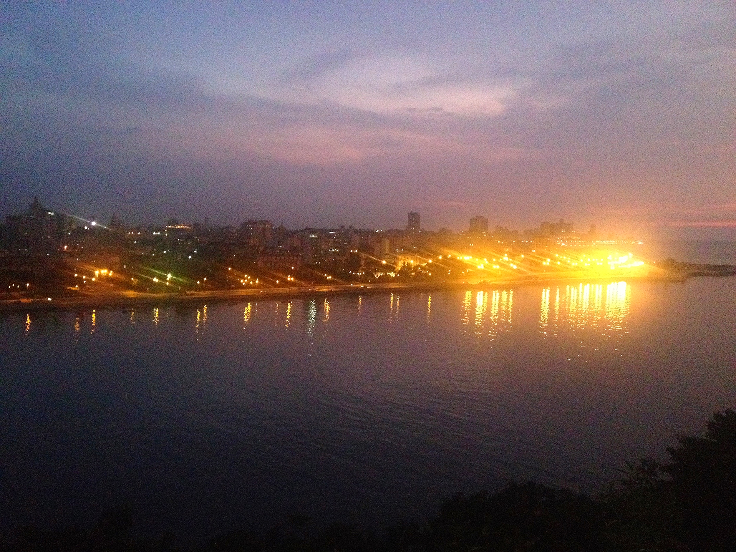 View of el Malecon from the Fortaleza de la Cabana.