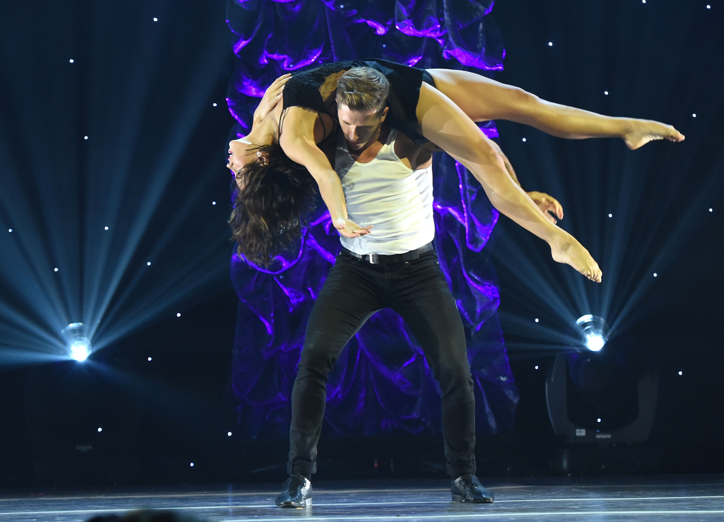 Actress/dancer Jenna Dewan Tatum and dancer/choreographer Travis Wall perform onstage at the 5th Annual Celebration of Dance Gala presented By The Dizzy Feet Foundation at Club Nokia.