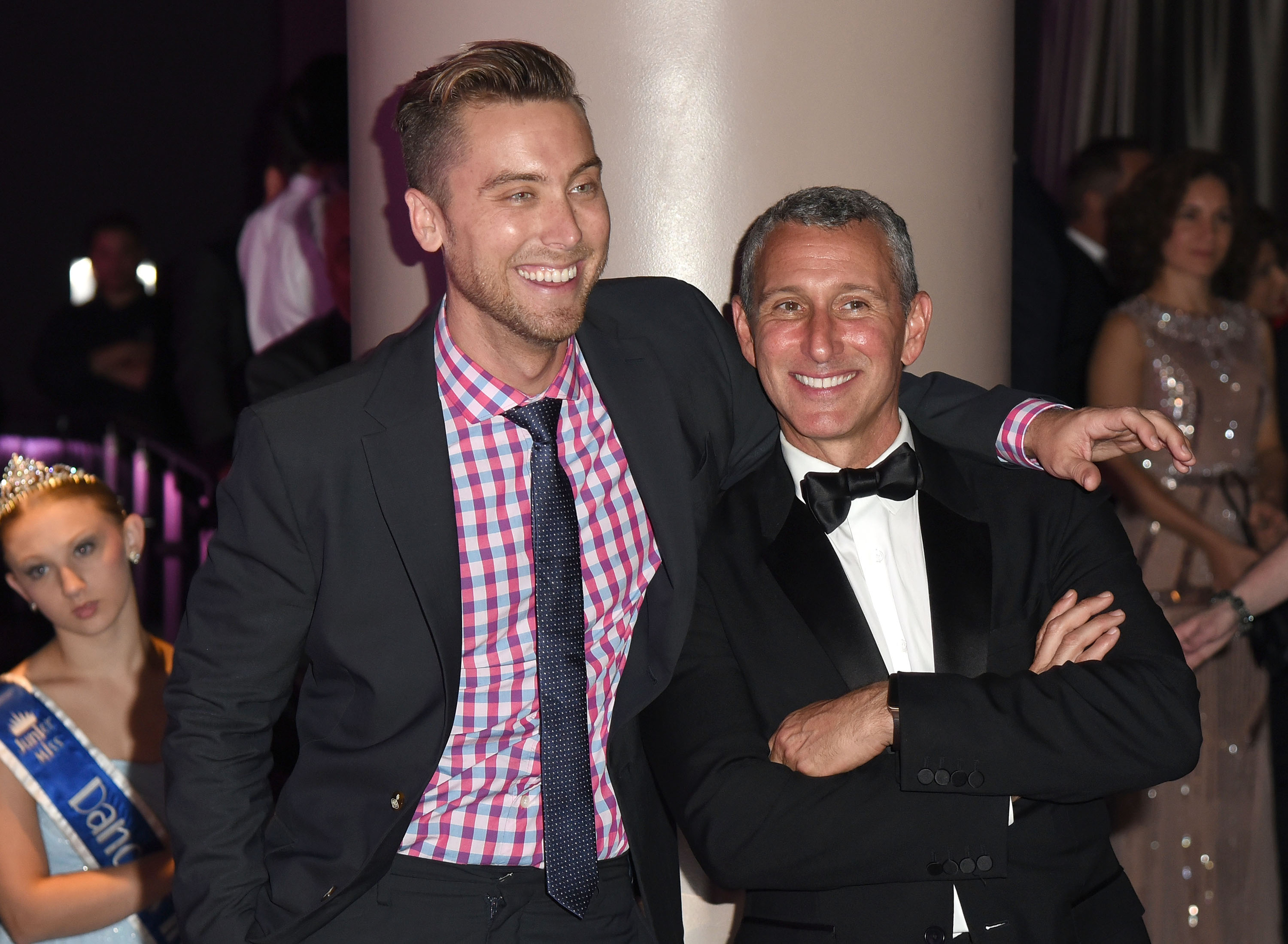 Lance Bass and founder of the Dizzy Feet Foundation Adam Shankman