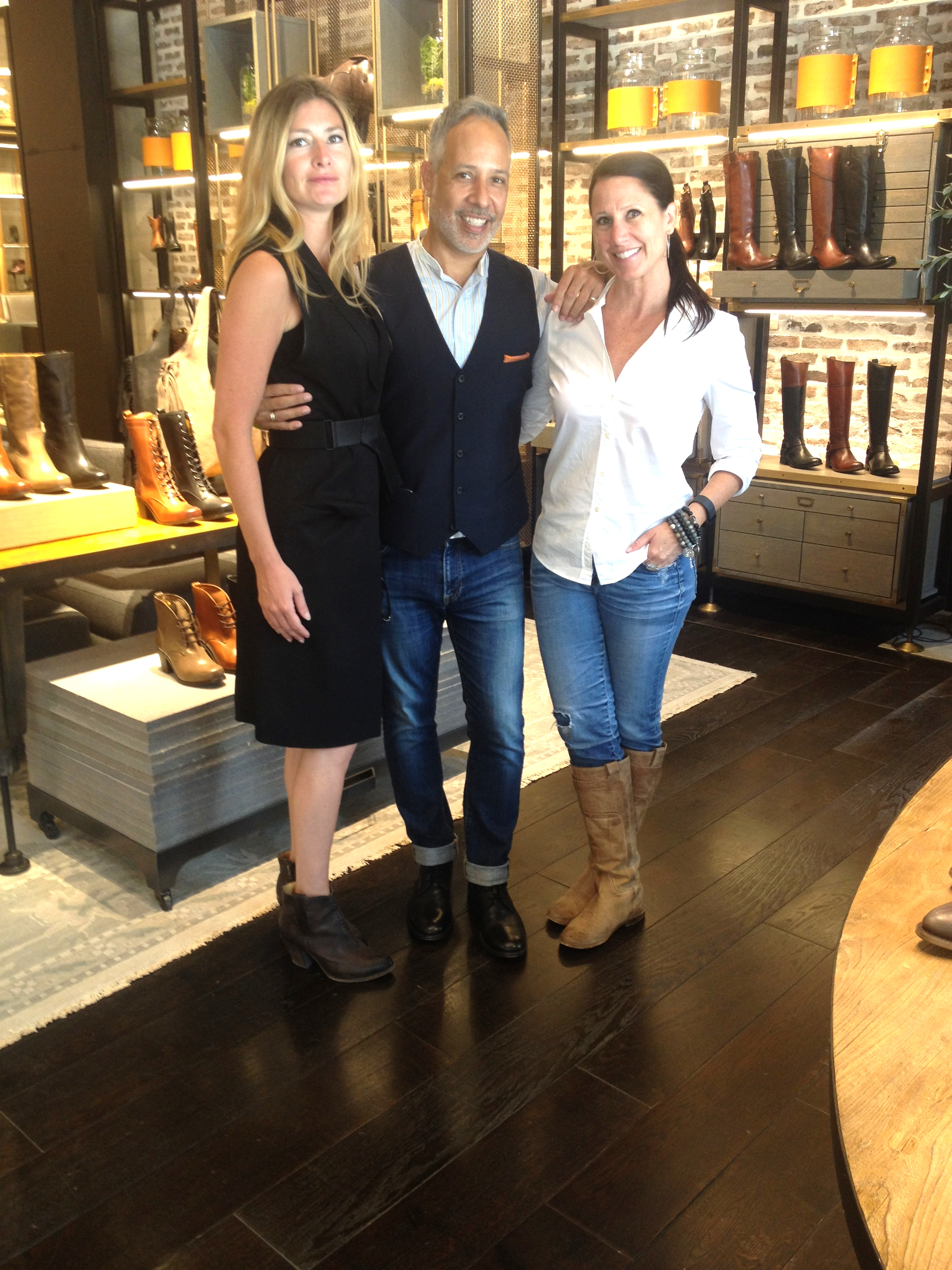 Photo opp with The Frye Company & Caren West PR. And yes, we're all wearing Frye.