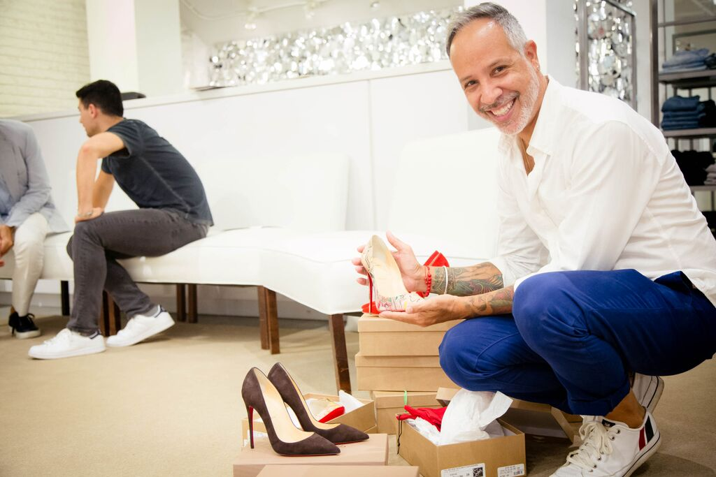 I couldn't resist the Loubs! Their virgin red soles said touch me...