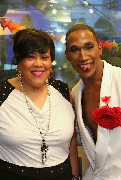 Pictured: Martha Wash and Anthony Wayne as Sylvester, from the Off-Broadway musical MIGHTY REAL: A FABULOUS SYLVESTER MUSICAL.  Photo Credit: Matthew Rettenmund