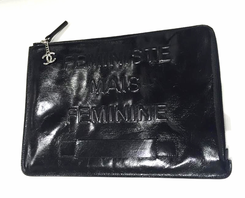 Chanel Large Flat Pouch Black