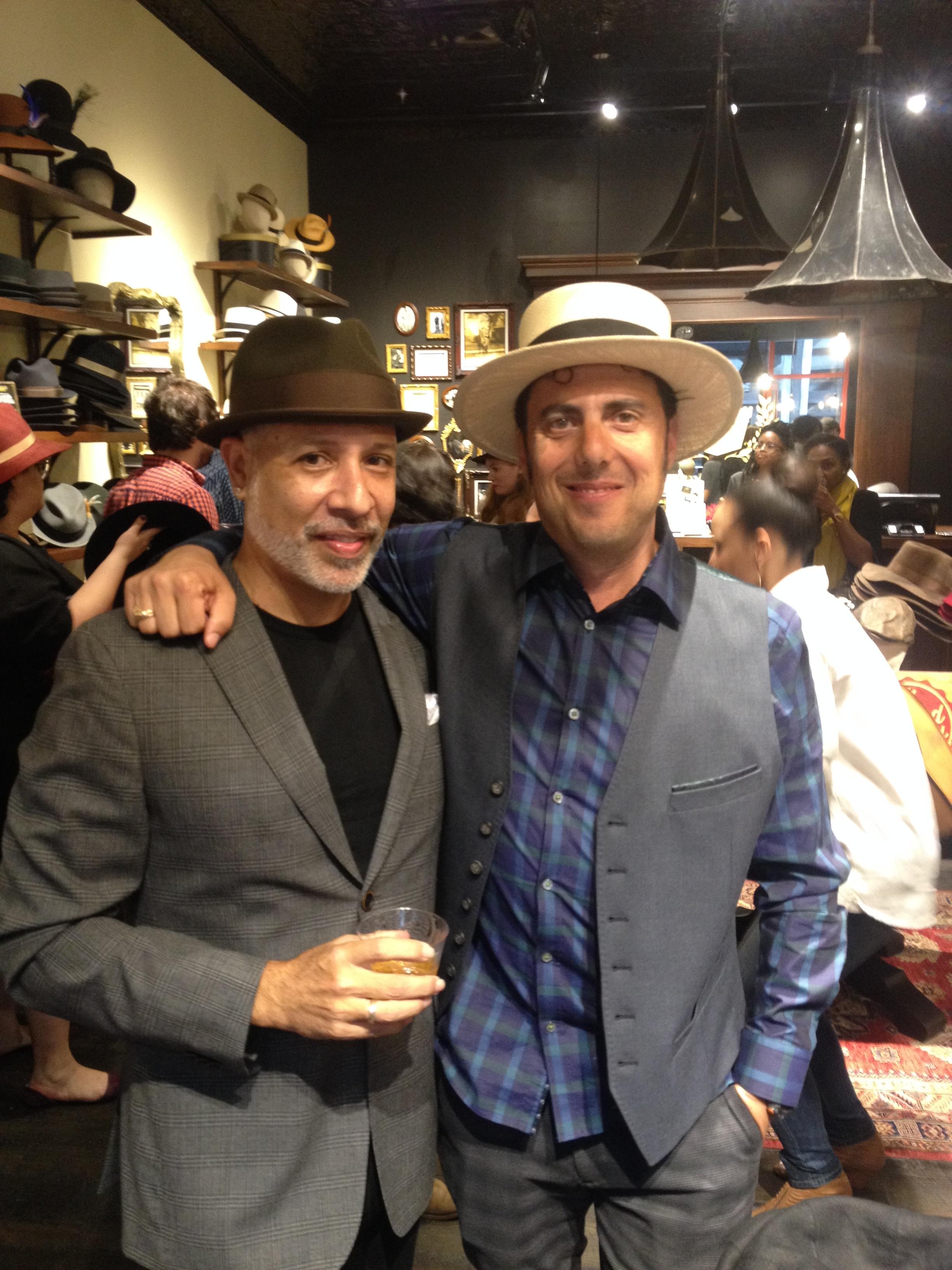 Ben Goorin, myself and a couple of dapper hats.