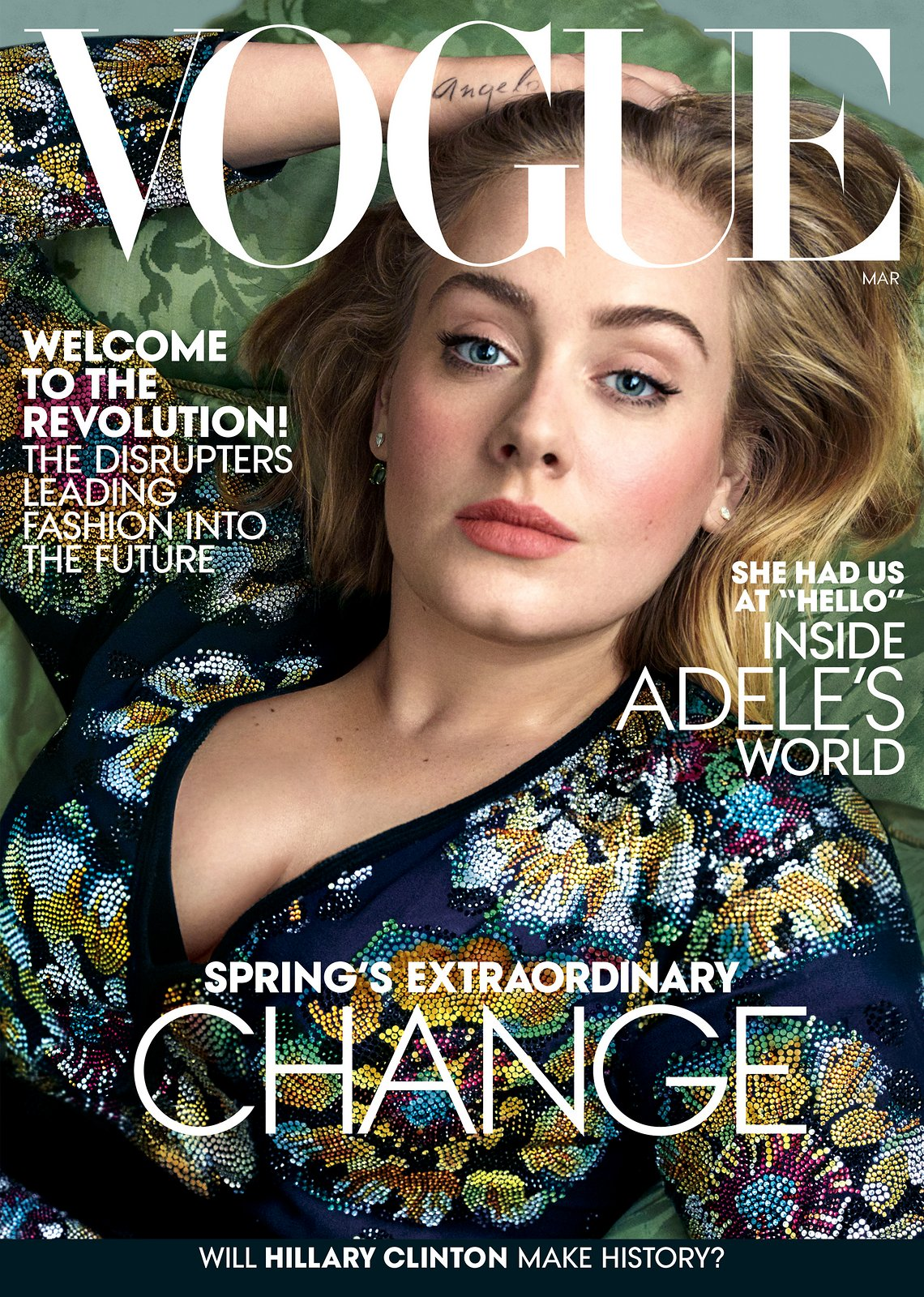 Adele covers Vogue