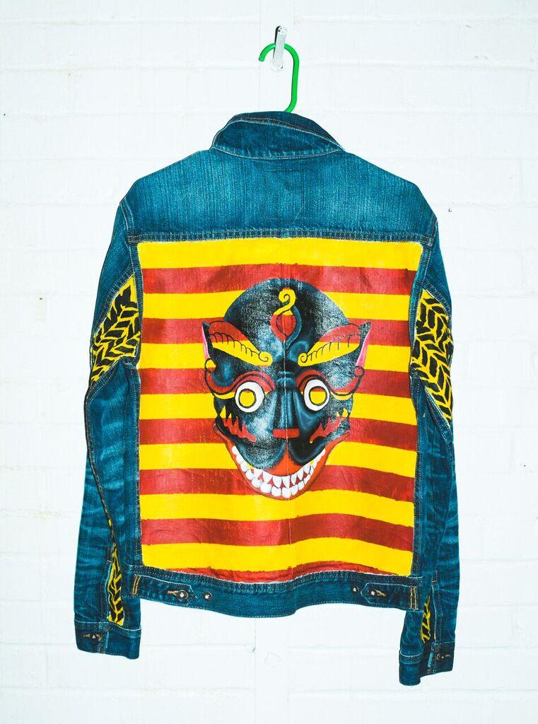 Custom designed Fourth of November Denim Jacket by Alea Hurst