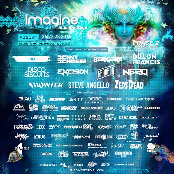 Imagine Music Festival line up fashionado