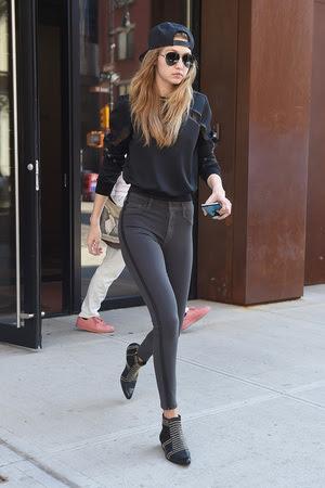 Gigi Hadid in Anine Bing Boots