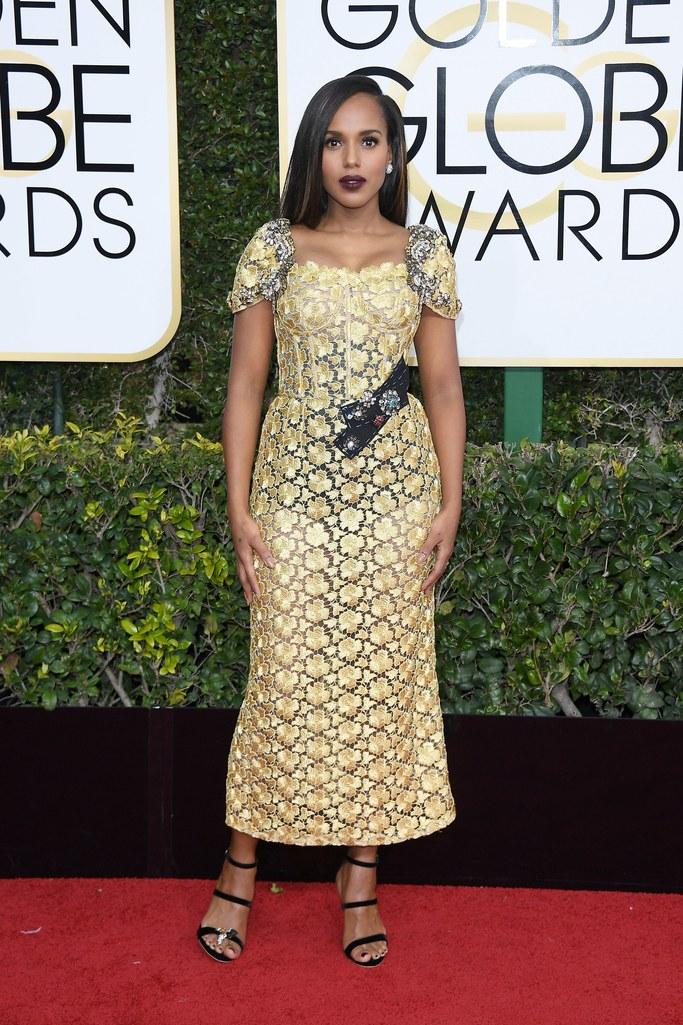 Kerry Washington in Dolce & Gabbana Alta Moda