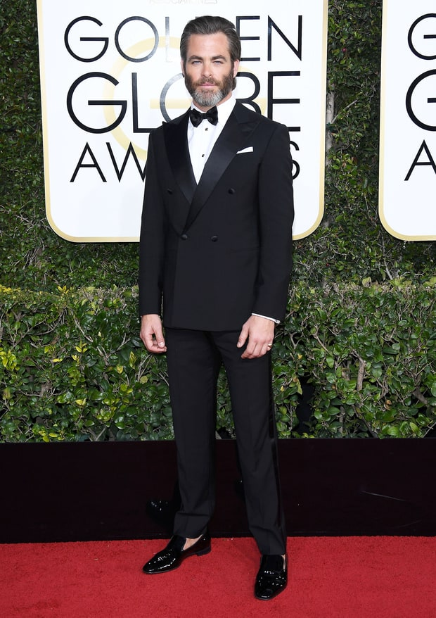 Chris Pine in Giorgio Armani.
