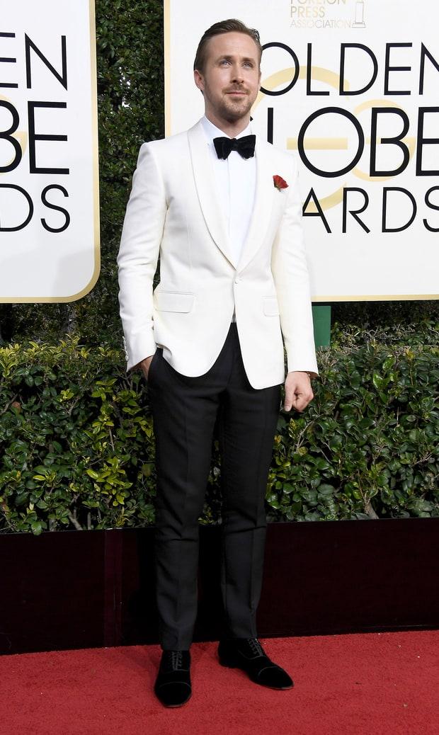 Ryan Gosling in custom Gucci.