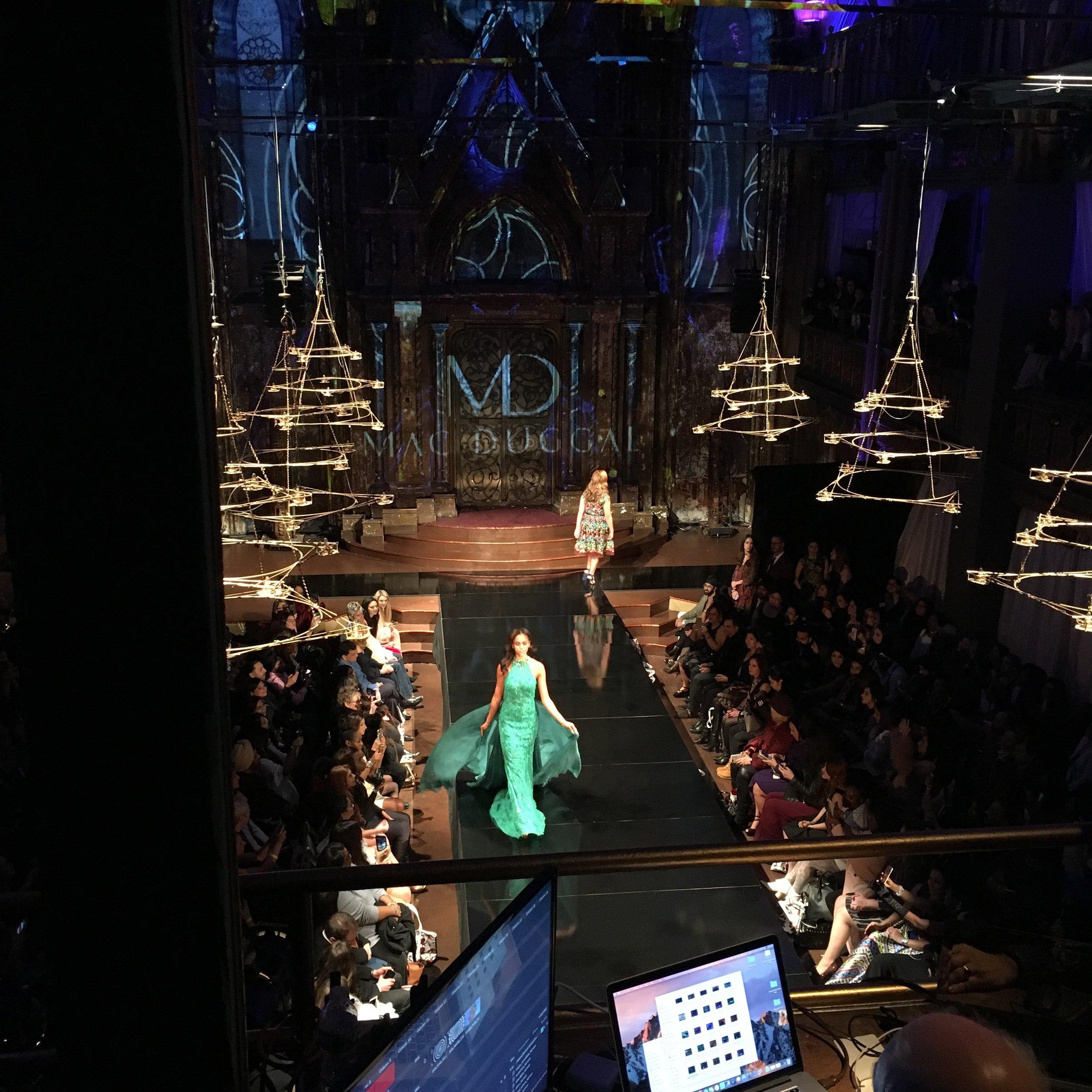 Mac Duggal runway at Art Hearts Fashion