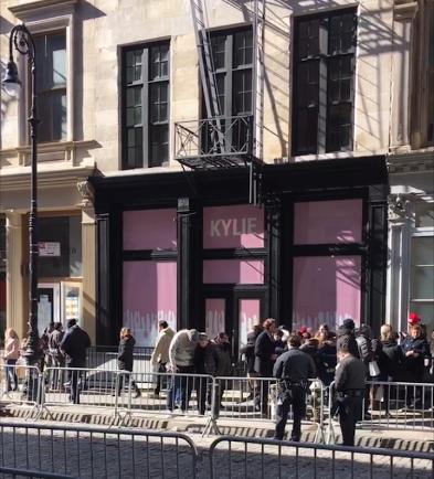 Kylie Jenner's Pop Up Shop in Soho.