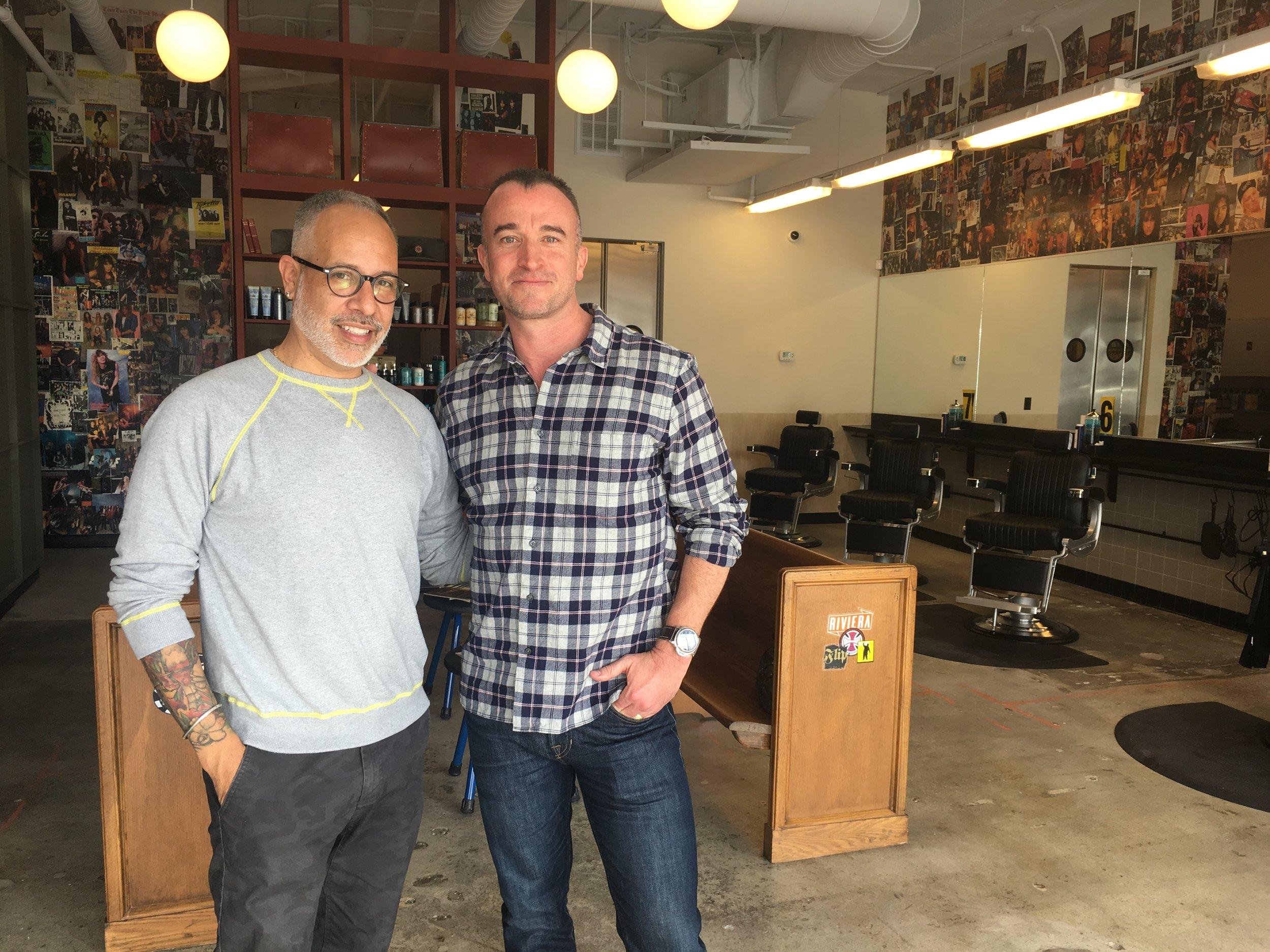 E. Vincent Martinez & Rudy's CEO Brendon Lynch.