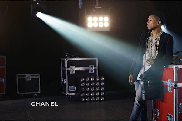 Pharrell Williams Is Chanel's First Handbag Model