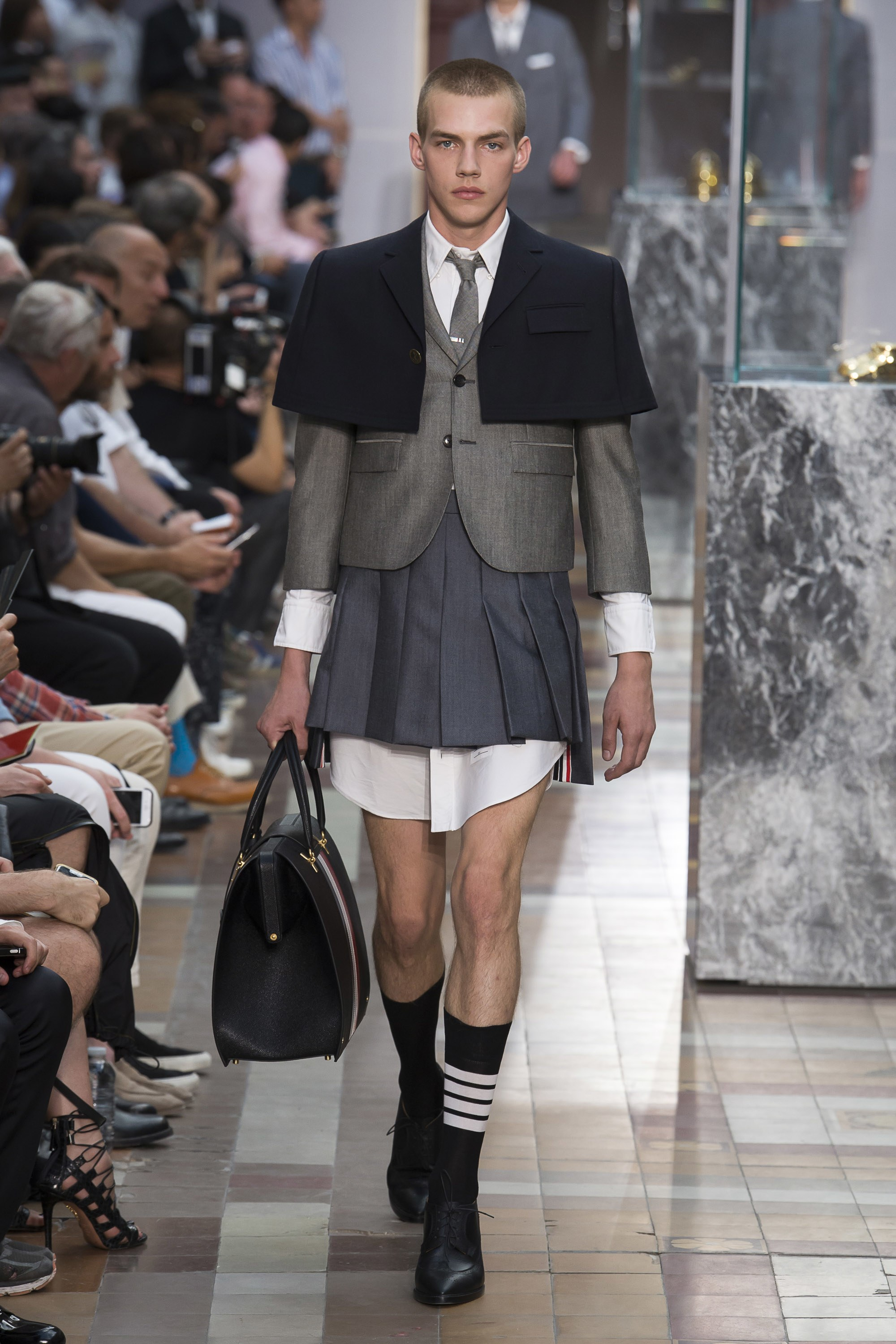 """""""I like the idea that when you are a baby you wear pretty much the same clothing as your brothers and sisters. And I think that culture dictates which way and what kind of clothing you wear—but it is nice that you can pretty much do whatever you want,"""" Thom Browne -"""