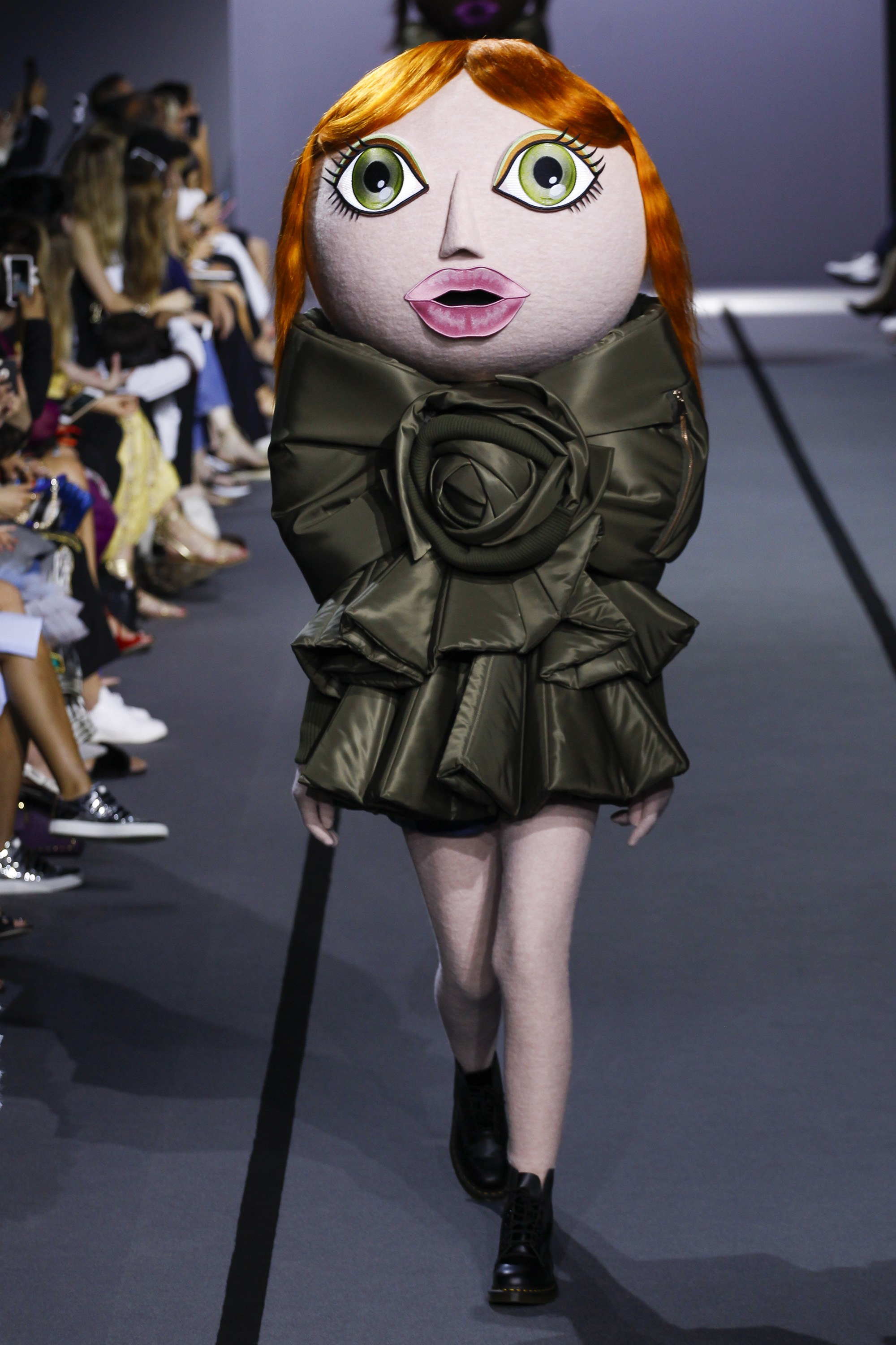 """The Viktor & Rolf mascots, """"are rooting for a world that is creative, diverse, and eco-conscious."""" -"""