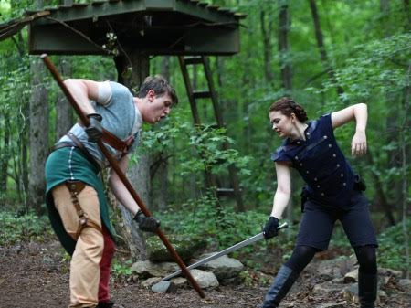 "Into the woods with ""Robin Hood."" Photo: BreeAnne Clowdus"