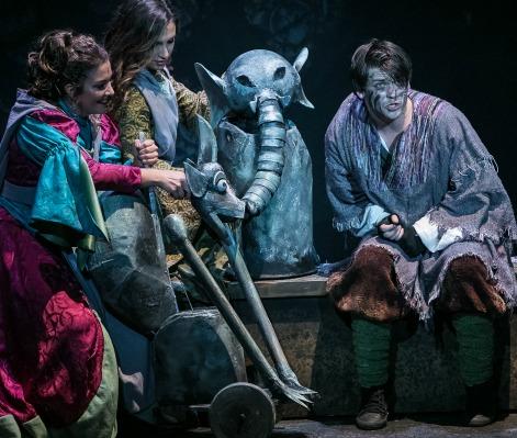 Haden Rider as Quasimodo (right) and friends. Photo: Chris Bartelski