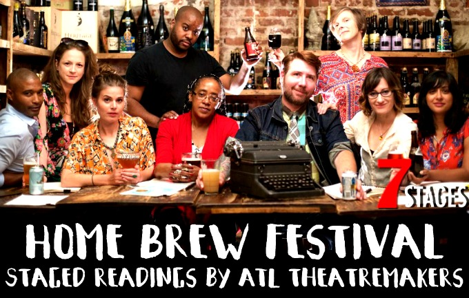 Pictured, from left: playwright Theroun Patterson, director Rachel Parish, director Rebekah Suellau, actor/playwright Mark Kendall, playwright Theresa Davis, playwright/actor Topher Payne, playwright/actor Daryl Fazio, playwright Dipika Guha.