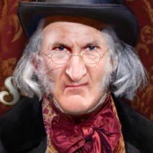 David de Vries returns as Scrooge for a fourth season. Photo: Greg Mooney