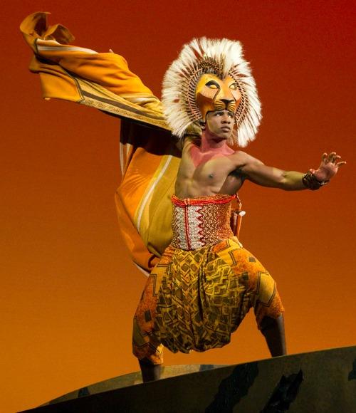 Dashaun Young is the grown-up Simba. Photo: Joan Marcus