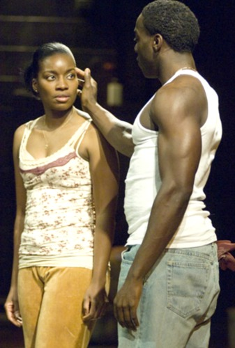 "Kianné Muschett and Rodrick Covington in the Alliance's Kendeda-winning ""In the Red and Brown Water"" by eventual Oscar-winning playwright Tarell Alvin McCraney. Photo: Greg Mooney"