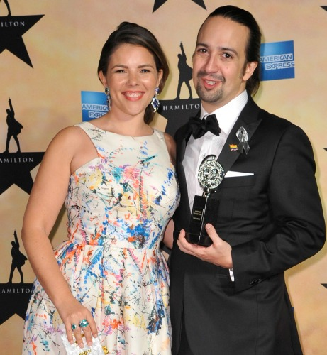 Vanessa Nadal and Tony Award-winning husband Lin-Manuel Miranda. Photo: Getty Images