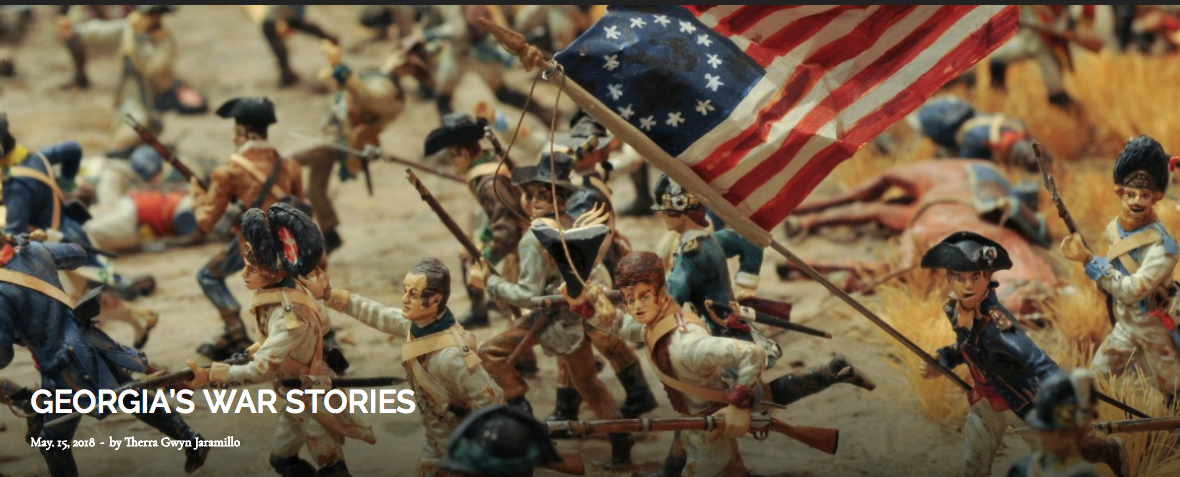 ABOVE: The Battle of Savannah fought in miniature at the  Savannah History Museum .